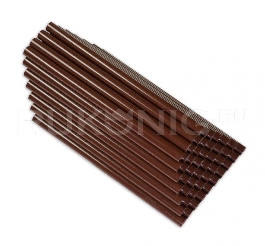 Клеевой стержень коричневый D-11 mm, L-200 mm